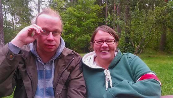 Pirkko Kotila ja Ville Karinen